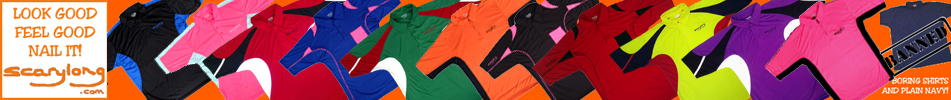 Swing-stretch golf polo shirts; stylish and vibrant, designed to stretch horizonally as you swing...but remains in place with no vertical movement.  Lightweight microfibre.